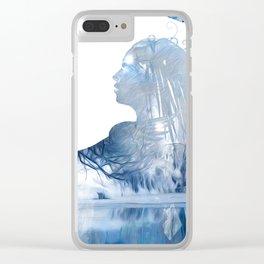 Winter Echo Clear iPhone Case