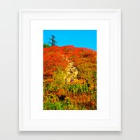 hiking Framed Art Prints featuring Hiking by Ammar ZABOUN