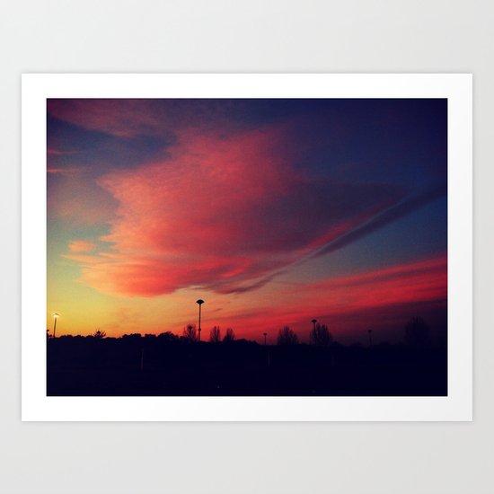 Sunrise series- Floating Art Print