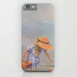 Collecting Sea Shells iPhone Case