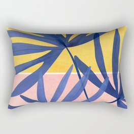 Both Sides of The Story / Tropical Palm Art Rectangular Pillow