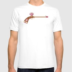 Rose Water Pistol White Mens Fitted Tee MEDIUM