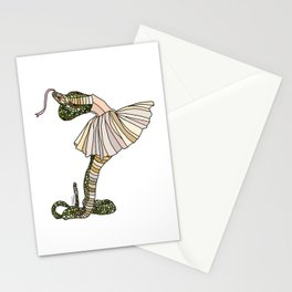 Snake Ballerina Tutu Stationery Cards