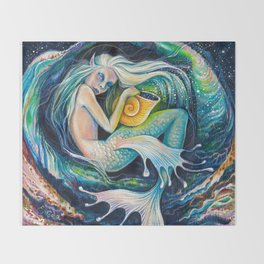 Sweet Dreams (Little Mermaid) Throw Blanket