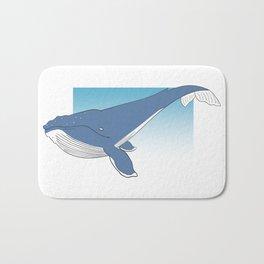 humpback whale 02 Bath Mat