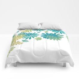 White floral splash Comforters
