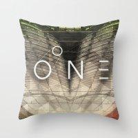 bones Throw Pillows featuring Bones by Vin Zzep