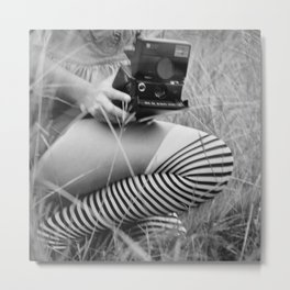 Polaroid Girl Metal Print