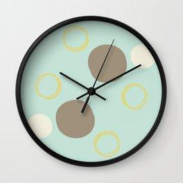 Fun with Circles in Blue Wall Clock