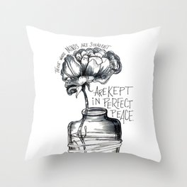 Perfectly Peaceful Mind Throw Pillow