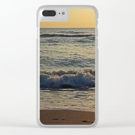 Footprints on Venice Clear iPhone Case