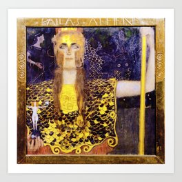 Gustav Klimt - Pallas Athena - Digital Remastered Edition Art Print