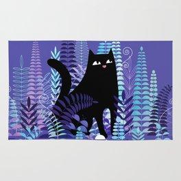 The Ferns (Black Cat Version) Rug