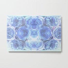 Blue Peonies Metal Print