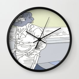JERRY GARCIA & OCEAN  Wall Clock
