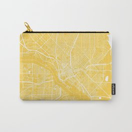 Dallas map yellow Carry-All Pouch