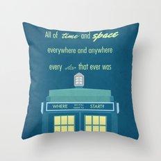 Doctor Who TARDIS Throw Pillow