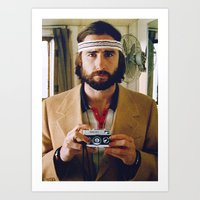 tenenbaum Art Prints featuring Richie Tenenbaum by VAGABOND