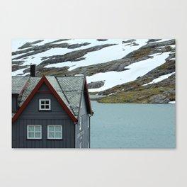 House in the Trollstigen Mountains Canvas Print