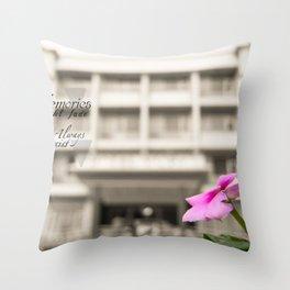 Memories always exist Throw Pillow