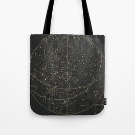Vintage Astronomical & Celestial Map (1850) Tote Bag