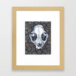 Fancy Cat Skull Framed Art Print