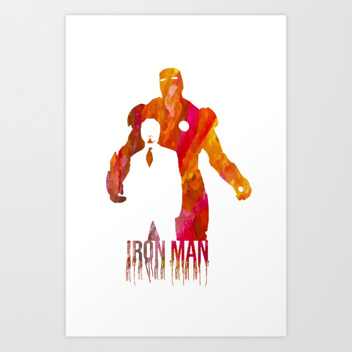 Iron Man Art Print By J0nhernandez Society6