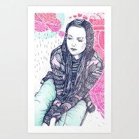 daria Art Prints featuring daria by Andon Georgiev