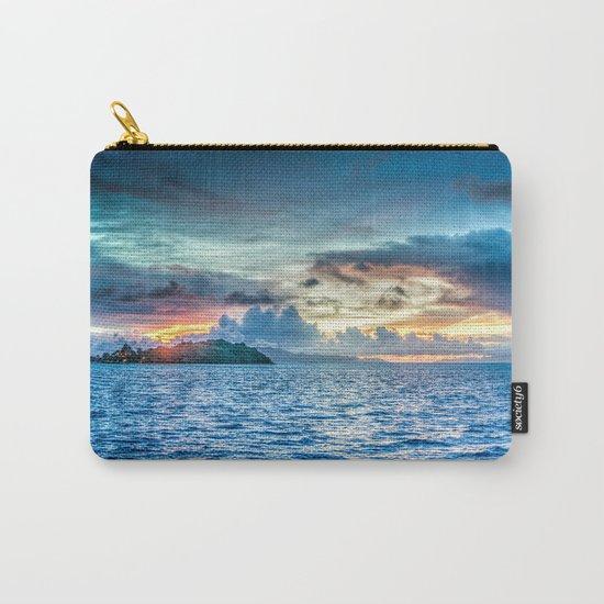 Bora Bora Polynesia sunset Carry-All Pouch