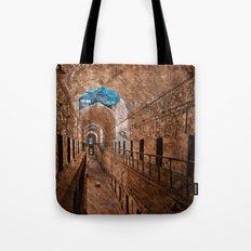 Prison Corridor - Sepia Blues Tote Bag
