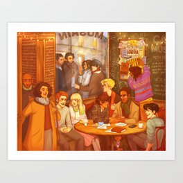 Les Misérables: A Group Which Almost Became Historic Art Print