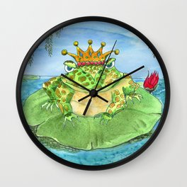 Frog King Wall Clock