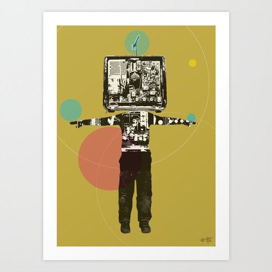 Electric Kid Collage Art Print