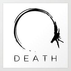 Arrival - Death Black Art Print