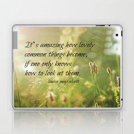 Lovely Louisa May Alcott  Laptop & iPad Skin