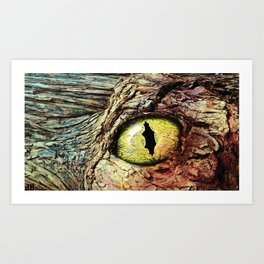 Eye of the Forest Dragon Art Print