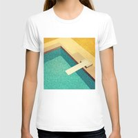 pool T-shirts featuring Pool by Herb Vaine