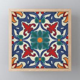 Colorful Azulejos Pattern Framed Mini Art Print