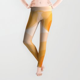 Abstraction_SUNSET_SUNSHINE_GRADIENT_POP_ART_Minimalism_008S Leggings
