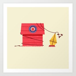 The Red Baron or Snoopy's Doghouse Art Print