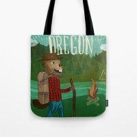 oregon Tote Bags featuring Oregon by Santiago Uceda