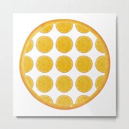 Orange Fruit Pattern Metal Print
