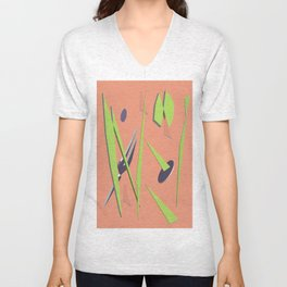 80s Shapes, Colors and Space Unisex V-Neck