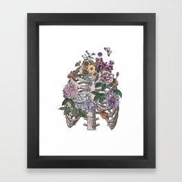 flowering ribs Framed Art Print