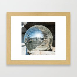 Mirrors discoball Framed Art Print