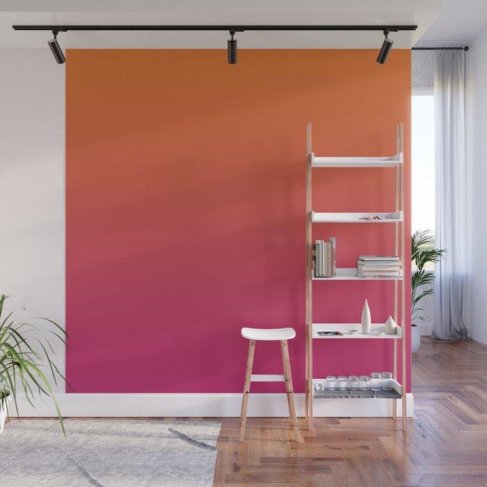 Pink Orange Red Gradient Pattern Wall Mural