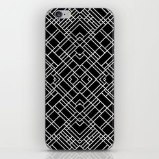 Map Outline 45 R Black iPhone & iPod Skin