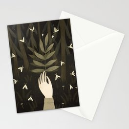 white moths Stationery Cards