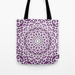 16 Fold Mandala in Purple Tote Bag