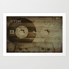 Life on tape Art Print